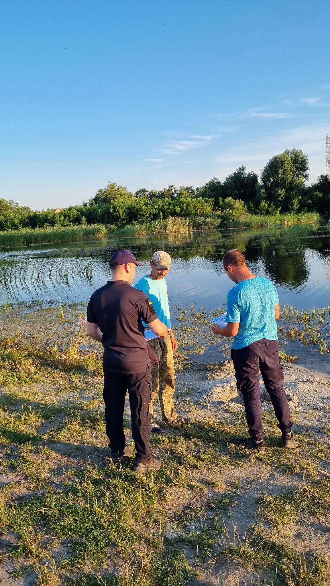 У Бродах мешканцям нагадали про безпеку на воді: лікнеп провели біля озера Бугаї